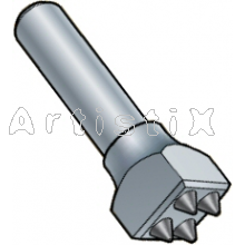 Bushhammer with stud Rebit 30mm /   8 points / D